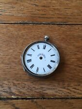 With Fancy Case And Dial 36Mm Antique Solid Silver Key Wind Pocket Watch