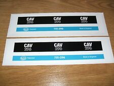 2X #NEW# 'CAV 296' DIESEL FILTER DECALS FOR FORD 3000, 4000, 5000, 7000 TRACTORS