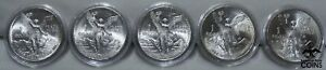 Lot of 5: 1982-1986 Mexico Libertad 1oz Silver .999 Coins Encapsulated