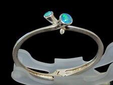925er Silber Armreif mit Opal Design Durchmesser:5,9 cm / 25 Gramm / RAR