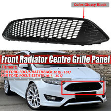 For Ford Focus 2015-2017 Front Bumper Hood Grill Upper Grille Black Honeycomb