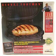 George Foreman Lean Mean Fat Reducing Grilling Machine Salton GR8BLK NIB