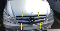 Mercedes Vito W 639 2010-2014 4 pcs facelift Chrome Front Grill Trim Set S.Steel