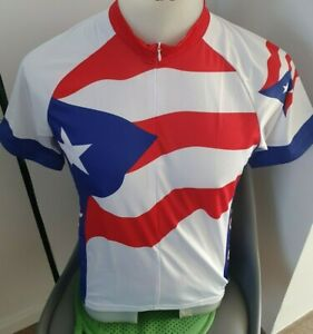 Puerto Rico  Retro Vintage Team Cycling Jersey Size M Made in Colombia