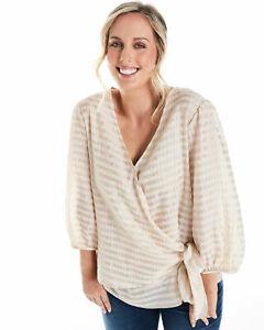Estelle Clothing Women's Buttercup Top in Beige Size 16