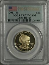 2011 W $10 LUCY HAYES FIRST SPOUSE PCGS PR70 FIRST STRIKE