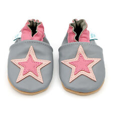 5b5654f42fa5 Dotty Fish Soft Leather Baby & Toddler Shoes - Pink Star - 0-6 Month