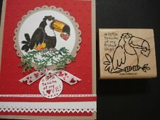 Stampin Up 2 IN 1 rubber stamp TOUCAN exotic BIRD - A TOUCAN OF MY FRIENDSHIP