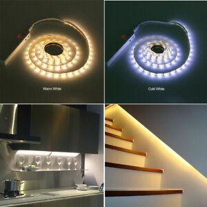 Kitchen Under Cabinet Cupboard LED Strip Lights PIR Motion Sensor Battery Power