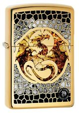 "ZIPPO ""ANNE STOKES FUSION DRAGON"" POLISHED BRASS COLOR LIGHTER ** NEW in BOX **"