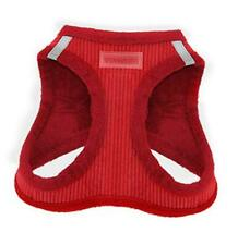 """New listing Voyager Step-in Plush Dog Harness - Soft Medium (Chest: 16"""" - 18"""") Red Corduroy"""