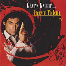 Gladys Knight HAND Signed Licence to Kill EP, James Bond 007, Autograph