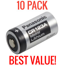 10 PACK PANASONIC INDUSTRIAL LITHIUM CR123A 3V CR17345 CAMERA PHOTO BATTERIES