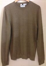 Topman Top Man Brown Marl Cotton Crew Neck Jumper M 40 Eur 96 - 101 cm