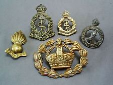 ORIGINAL WW2 SOUTH AFRICA ARMY MEDICAL CORPS & UNITY IS STRENGTH ETC. CAP BADGES
