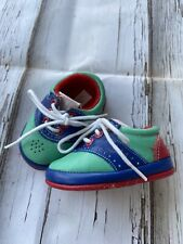 Vintage Toddler University Baby Crib Tennis Shoe Size 0 Colorful Blue Red Green