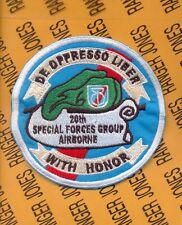 US Army 20th Special Forces Group Airborne SFGA Challenge coin pocket patch