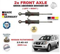 FOR NISSAN PATHFINDER 2.5 dCi 4.0 2005-> 2X FRONT LEFT RIGHT SHOCK ABSORBER SET