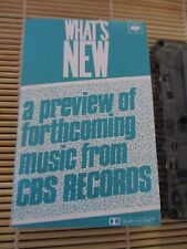 What's NEW CBS PROMO Various Artists RETRO compilation MIX cassette Tape