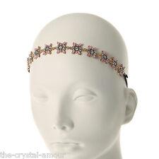 Claire's Accessories, rosa e oro Crystal Flower Donna-Matrimonio, Damigella D'onore