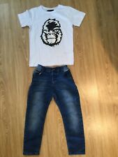 Boys F&F jeans & Next reversible sequin top age 4-5