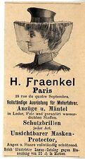 H. FRAENKEL Parigi attrezzature per motore conducente storica promozionale 1902