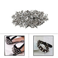 Silver Spike Cone Screwback Studs for Clothes Belts Shoes Bags Leathercraft DIY