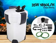 Aquarium Fish Tank Filter UV LIGHT External Canister 1850LPH White NEW