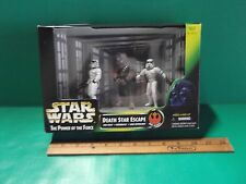 "Star Wars The Power Of The Force Death Star Escape 4""in Figures Hasbro 1997"