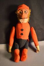 Schuco Vintage Bellhop Monkey Moving Arms And Legs Some Felt Loss