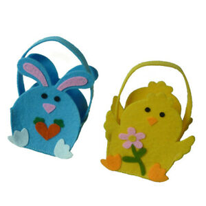 Spring Easter Bunny Candy Bag Non-woven Tote Cookies Gift Bag Basket Party Favor
