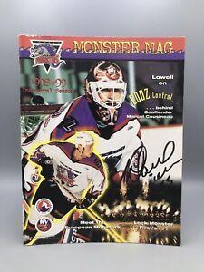 1998 - 1999 Lowell Lock Monsters AHL Inaugural Season Hockey Program AUTOGRAPHED