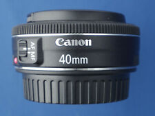 Canon EF 40mm F/2.8 STM Pancake Lens For Canon DSLR Camera C/W Caps