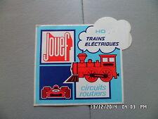 AUTOCOLLANT JOUEF trains electriques HO circuits routiers    G79