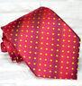 Cravate de luxe pois rouge TOP Quality NOUVEAU Made in Italy soie marque TRE