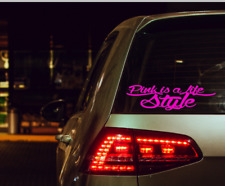 Pink is a life style Aufkleber Auto Sticker Tuning JDM Decal  oem style VDub