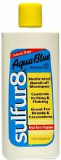 Sulfur 8 Aqua Blue Medicated Dandruff Shampoo 7.5oz