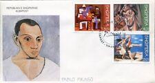 Albania stamps 2000. Pablo Picasso. Art, Picture. FDC Set MNH. Michel 2763-2765