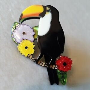 Erstwilder Brooch,  Toco of the Tropics   (Collectible) - U.S. Seller
