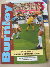 Burnley Teams A-B Football FA Cup Fixture Programmes