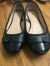 Ladies Black Patent Toe Ballet Pumps Size 5 From F&F