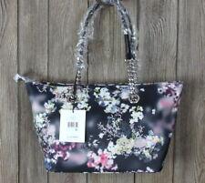 New Calvin Klein Florence Handbag Black Multi Color Shoulder Purse Nylon 138.00