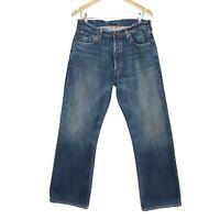 Ruehl No 925 Varick Button Fly Bootcut Jeans Mens Size 32x32 Blue Cotton Denim