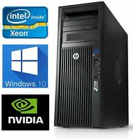 HP Z420 Workstation Intel Xeon 6C E5-1650 3.2GHz 64GB RAM 250GB SSD Quadro K4000