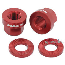 Halo  Alloy  Axle Nuts M10  Anodized  RED Wheel Nuts
