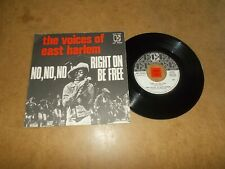 THE VOICES OF EAST HARLEM - NO NO NO - RIGHT ON BE FREE  / LISTEN - FUNK