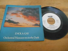 """7"""" Pop OMD Orchestral Music In The Dark - Enola Gay (2 Song) DINDISC / ITALY"""