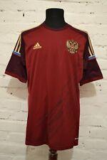 RUSSIA HOME FOOTBALL SHIRT 2014/2016 SOCCER JERSEY TRIKOT MENS L ADIDAS РОССИЯ