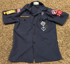 boy scouts of america shirt Youth M Webelos Blue Button Up A39