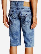 True Religion Straight Flap Cutoff Shorts Expl Indigo 34